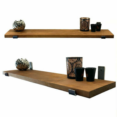 £25 • Buy Rustic Industrial Scaffold Board Shelves With Wall Brackets And Fitting Handmade