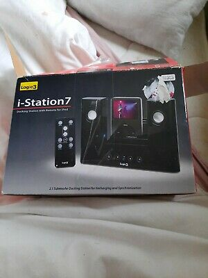 Logic3 I-Station 7 - MIP107 In Black With Adapter And Remote! • 12.99£