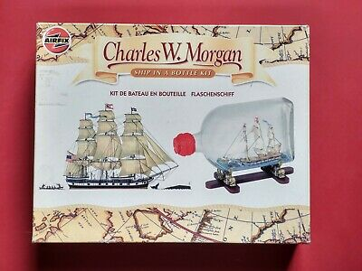 Airfix Ship In A Bottle Kit Charles W Morgan - Part Built • 8£