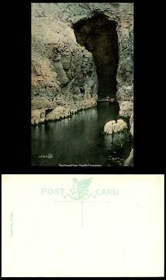 Northern Ireland Old Color Postcard The Grand Cave Giant's Causeway Boat Boating • 5.99£