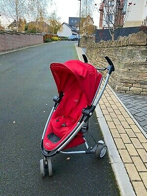 Quinny Zapp Xtra 2 Rebel Red Travel System Single Seat Stroller • 89.99£