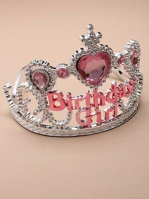 NEW Plastic Silver Childrens Birthday Girl Tiara Hair Accessory Party Prom  • 4.99£