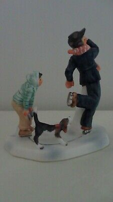 $ CDN19.46 • Buy Gorham China Figurines Winter Gay Blades Norman Rockwell Illustration Of 1948