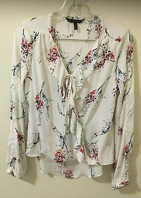 $ CDN10.14 • Buy White House Black Market Women's Floral Blouse Size 4