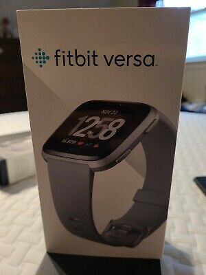 $ CDN59.96 • Buy Fitbit Versa FB504 Activity Tracker Silver Aluminum Case W/  Gray Band