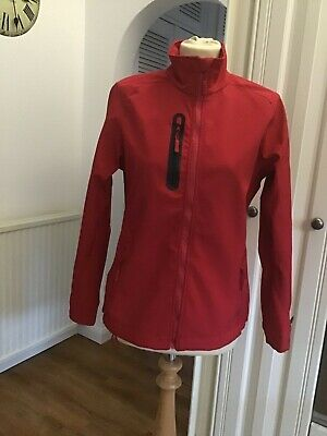 Ladies Base Layer Soft Shell Lightweight Breathable Jacket 12 Red Vgc Zip Pocket • 4.99£
