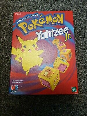 Pokemon Yahtzee JR. Game MB Games Hasbro 2000 Complete & Boxed With Instructions • 7.70£