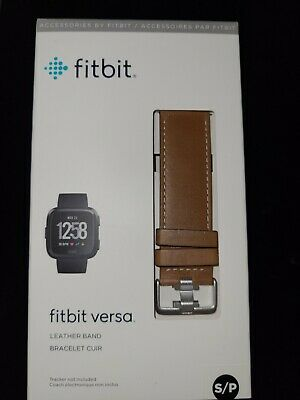 $ CDN13.43 • Buy GENUINE Fitbit VERSA Leather Band Smartwatch Sz Small, Brown FB166LBNVL