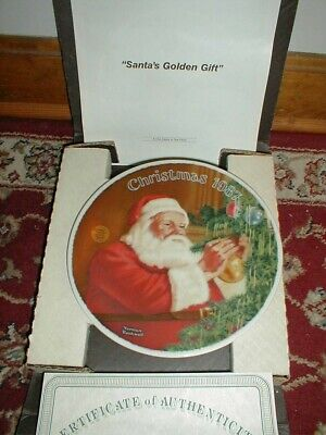 $ CDN5.24 • Buy Norman Rockwell Plate  Santa's Golden Gift  1987 Limited Edition Authentic