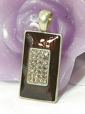 $ CDN15.67 • Buy Lovely Lia Sophia  TOUCHE  Slide / Pendant, Cut Crystals,  NWOT