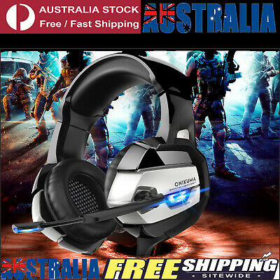 AU28.99 • Buy 3.5mm K5 Gaming Headset For PS4 Xbox One PC Laptop With Noise Cancelling And Mic