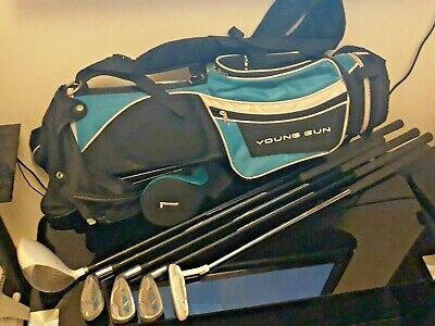 Golf Club Set Young Gun Starter.Includes 5 Clubs Metal Stand. SGS 2.+ Cadie.  • 75£