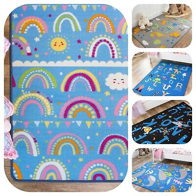 Bright Colourful Kids Playmats | Mats For Kids Bedroom | Alphabet Animal Fun Rug • 14.95£