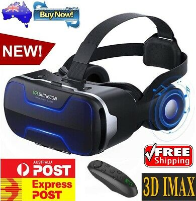 AU74.59 • Buy VR Box SHINECON 3D Headset Virtual Reality Glasses Goggles For LPhone Android AU