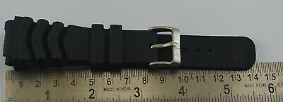 $ CDN13.08 • Buy 22MM Seiko Diver's Watch Black Silicone Rubber Watch Band Strap C-116-17