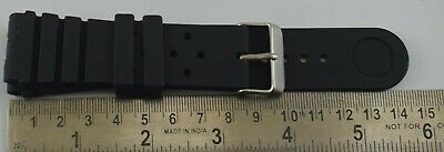 $ CDN13.08 • Buy 26MM Seiko Diver's Watch Black Silicone Rubber Watch Band Strap C-114-41
