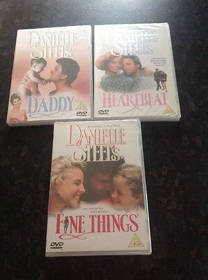 Three Danielle Steel DVD's - Daddy / Heartbeat / Fine Things (New & Sealed) • 12.99£