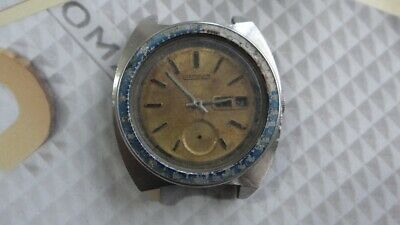 $ CDN220.27 • Buy Seiko Pepsi Bezel 6139 Automatic Chronograph Watch For Parts/Repair AS IS.,,