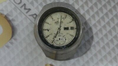$ CDN220.27 • Buy Seiko Helmet 6139-7101 Automatic Chronograph Watch For Parts/Repair AS IS.,..