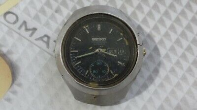 $ CDN220.27 • Buy Seiko Helmet 6139-7100 Automatic Chronograph Watch For Parts/Repair AS IS.,..