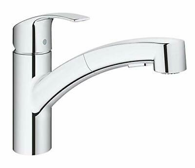 GROHE 30305000 Eurosmart Pull-Out Single-Lever Kitchen Tap, Chrome • 124.99£