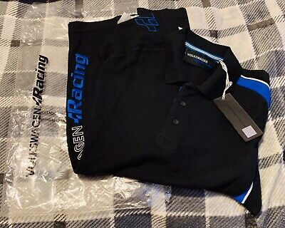 Volkswagen Golf R Polo Men Size M Racing -Fast Shipping Free P&P • 43.95£