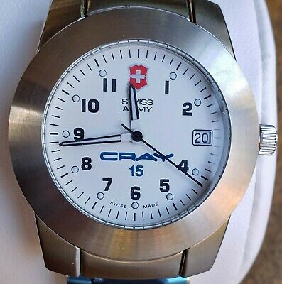 Swiss Army Officers Men's Watch Quartz All Ss Victorinox *cray Research #15* New • 111.78£