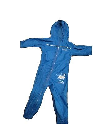 Boys Waterproofs 12-18months All In One Puddle Suit Regatta • 1.50£