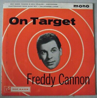 Freddy Cannon - On Target EP (Top Rank JKP 3010) EX+ / EX • 3.99£