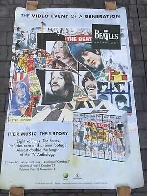 Vintage The Beatles - Anthology On VHS 6-sheet / 1996 HUGE Bus Stop Print • 19.95£