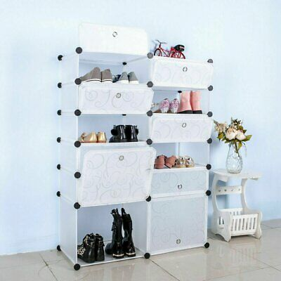 AU36.81 • Buy Door Cube DIY Shoe Cabinet Rack Storage Portable Stackable Organiser Stand