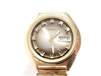 $ CDN32.73 • Buy Vintage Seiko Automatic Day Date Watch Seventeen Jewels Gold Tone Luminous Hands