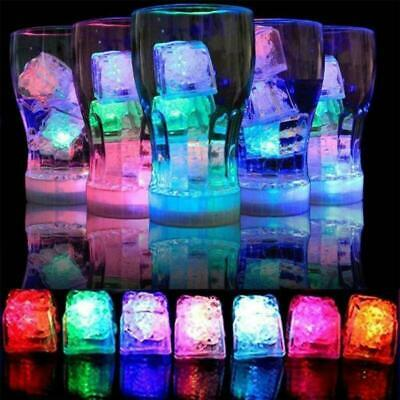 12pc Water Light Up LED Ice Cube Color Changing Party Luminous DIY Submersible • 8.55£