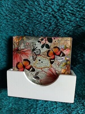 Butterfly Design Glass Coasters  • 0.99£