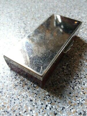 Vintage Small Silver Metal Stamp Case With Tortoishell Pattern Base  • 3£