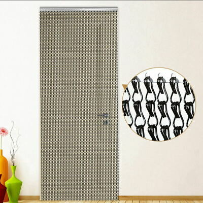Chain Insect Fly Door Curtain Blind Screen Metal Aluminium Strip Pest Control • 31.89£
