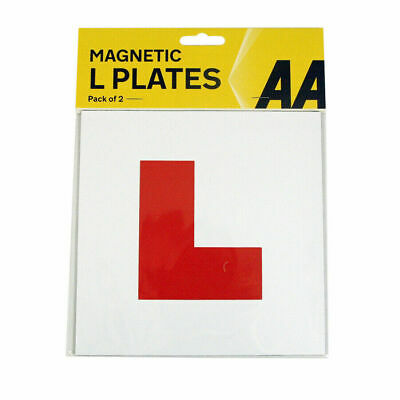 £2.90 • Buy Aa Fully Magnetic Exterior Car Bike New Learner L Plates Secure Safe Pair