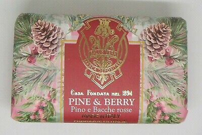 Pine & Berry Scented Soap Bar 275g La Florentina Made In Italy • 10.59£