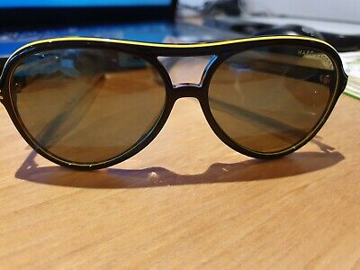 New With Tags Marc Jacobs Sunglasses, Black, Yellow Rim • 7£