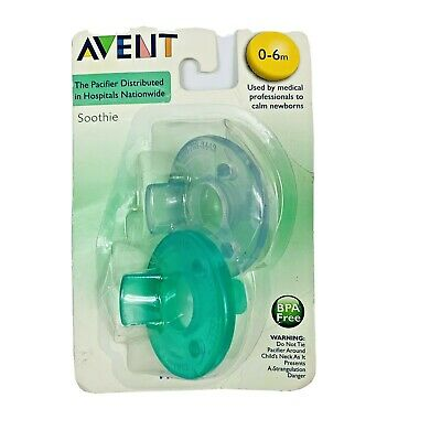AU14.02 • Buy Philips Avent Soothie 0 - 6m Blue Green SCF190/05