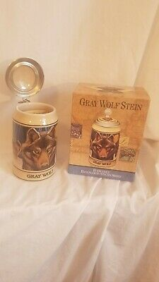 $ CDN5.50 • Buy Vintage Budweiser Endangered Species Gray Wolf Beer Stein