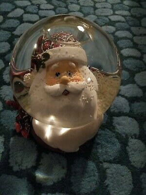 HARMONY Musical Snow Globe WITH Father Christmas Face • 7.50£