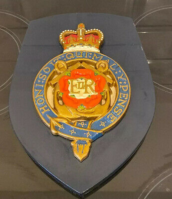 Vintage Military Army Royal Engineer Regiment Crest Shield Wall Plaque • 28£