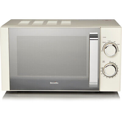Breville 17L Cream 800W Manual Microwave Oven Removable Plate Fast Free Delivery • 82.99£