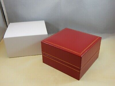 $ CDN28.98 • Buy Classic Red Watch Storage Box Perfect For Vintage Omega Longines Cartier Rolex