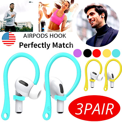 $ CDN11.33 • Buy For AirPods 1/2 Pro TPU Silicone Ear Hooks / 3 Pair TPU Strap For Headphone US