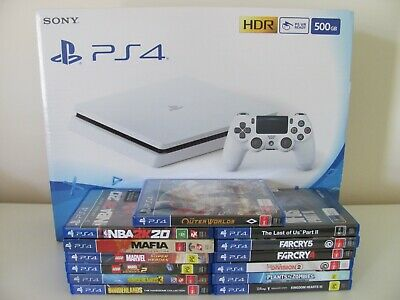 AU725 • Buy SONY Ps4 PLAYSTATION CONSOLE GLACIER WHITE  + GAMES. BRAND NEW