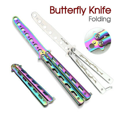 AU9.99 • Buy NEW Rainbow Dragon Butterfly Knife Metal Folding Practice Training Tool CSGO AU