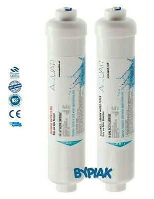 £10.95 • Buy 2 Stage Tap Drinking Water In-line Filter System Replacement Sediment & Carbon