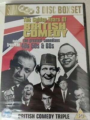 *New & Sealed* Triple DVD - British Comedy: The Golden Years 1940s 50s 60s -  • 5.49£